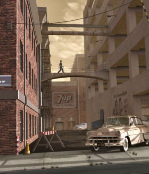 Movie Sets, City Block 02 by DreamlandModels