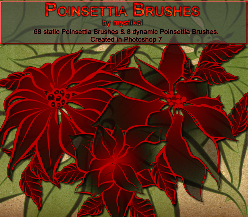 Poinsettia Brushes