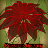 Poinsettia Brushes 2D And/Or Merchant Resources mystikel