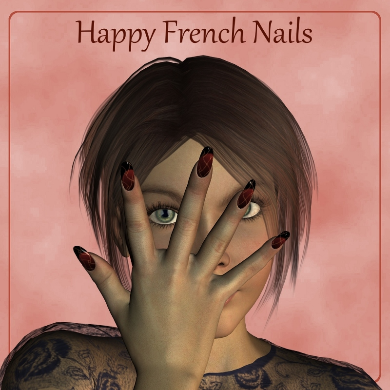 Happy French Nails for V4
