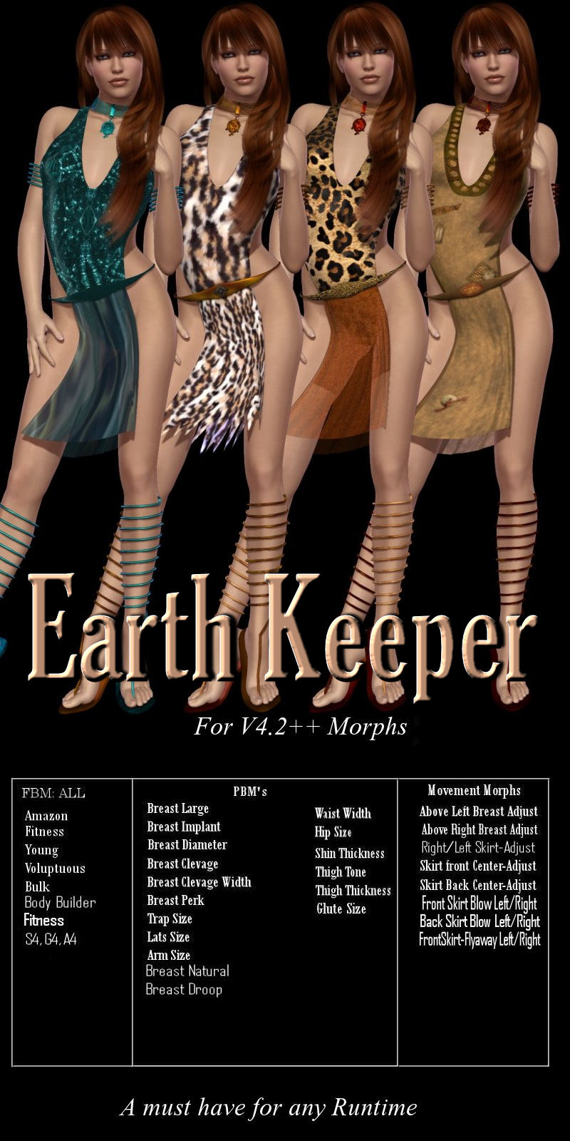 Earth Keeper for V4.2  Morphs