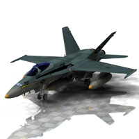 F/A-18 Hornet (for Poser) Transportation Digimation_ModelBank