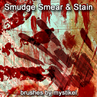Smudge Stain and Smear Brushes Themed 2D And/Or Merchant Resources mystikel