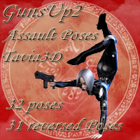 GunsUp2-Assault 3D Figure Essentials Tavia3D