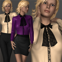 Pretty Blouse 3D Figure Assets 3D-Age