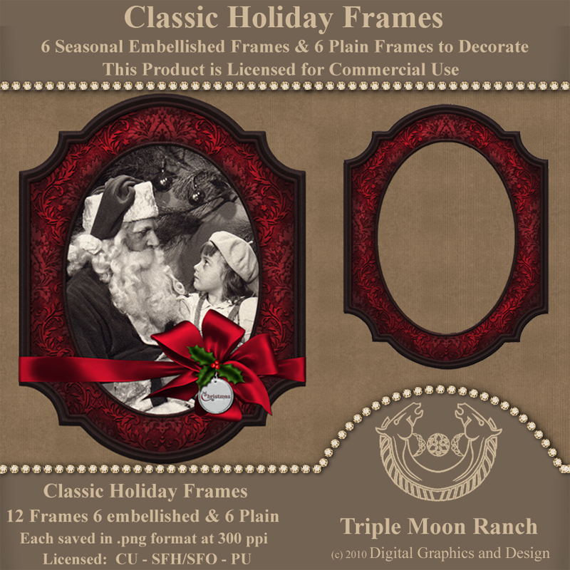 Classic Holiday Frames