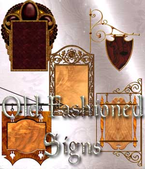Harvest Moons Old Fashioned Signs 2D Graphics Merchant Resources MOONWOLFII