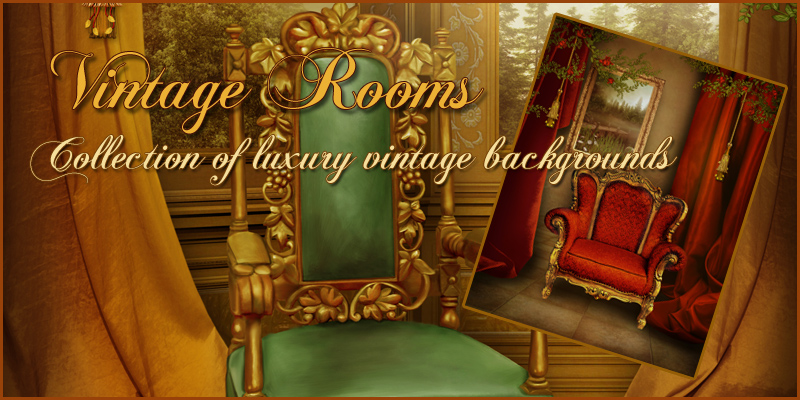 Vintage Rooms Backgrounds