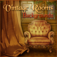 Vintage Rooms Backgrounds 2D And/Or Merchant Resources Themed -Melkor-