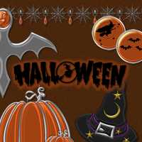 Halloween - Mini Pack 2D 3D Models sorayashams