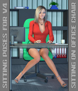 Sitting Poses: Sitting on a chair 3D Figure Essentials hameleon