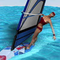 V4 Windsurfer Set 3D Figure Assets 3D Models Richabri