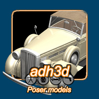 Convertible car 1936 3D Models adh3d