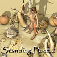 Standing Place 2 Software 3D Models 2D vikike176