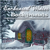 Enchanted Winter Backgrounds 2D And/Or Merchant Resources Themed -Melkor-