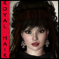 Royal Hair 3D Figure Assets goldtassel