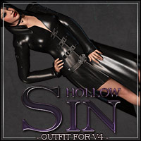Mortianna's Hollow Sin: Outfit for V4 3D Models 3D Figure Essentials outoftouch