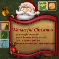 Wonderful Christmas 3D Models 2D Graphics capelito