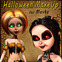 Halloween MakeUp for Mavka 3D Models 2D smay