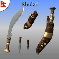 Kukri Khukri Knife 3D Models Simon-3D