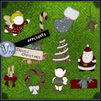 Appliques:Classic Christmas Themed 2D And/Or Merchant Resources Valerian70
