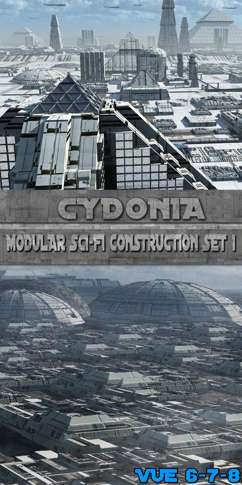 Cydonia Modular Sci-Fi Construction Set 1