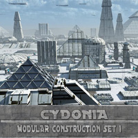 Cydonia Modular Sci-Fi Construction Set 1 3D Models MRX3010