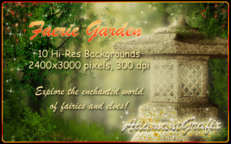 Faerie Garden Backgrounds