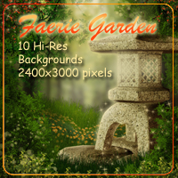 Faerie Garden Backgrounds 3D Models 2D AdamantGrafix