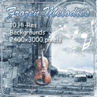 Frozen Melodies Backgrounds Themed 2D And/Or Merchant Resources AdamantGrafix