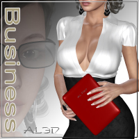 Al3d's BusinessLady 3D Figure Assets 3D Models _Al3d_