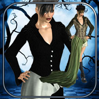 Jacqueline Outfit - Silent Fright V4,A4,G4,S4 image 1