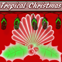 Tropical Christmas Brushes Themed 2D And/Or Merchant Resources mystikel