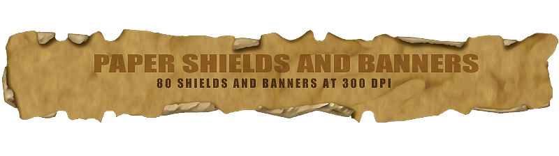 Paper Shields and Banners