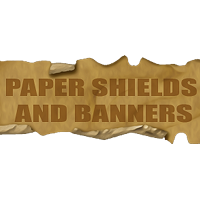 Paper Shields and Banners Themed 2D And/Or Merchant Resources designfera