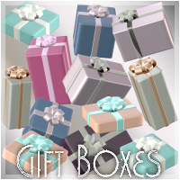Gift Boxes 3D Models Holly