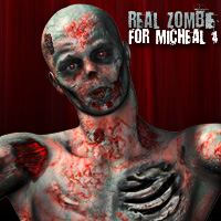 REAL ZOMBIE M4 3D Figure Essentials eltoro3D