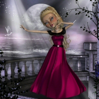 Mavka Evening Dress 3D Figure Assets 3DTubeMagic