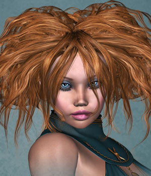 IceDove Hair for V4 3D Figure Assets SWAM
