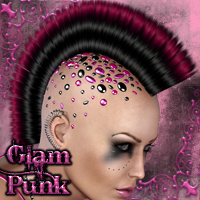 GLAM PUNK for V4 Hair Accessories nikisatez
