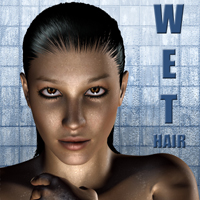 Wet Hair by adamthwaites 3D Figure Assets adamthwaites