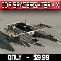 Spacefighter X (CDF) Transportation Themed Props/Scenes/Architecture Madaboutgames