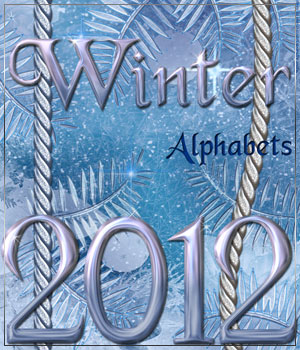 Winter Alphabets 2D Graphics Anagord