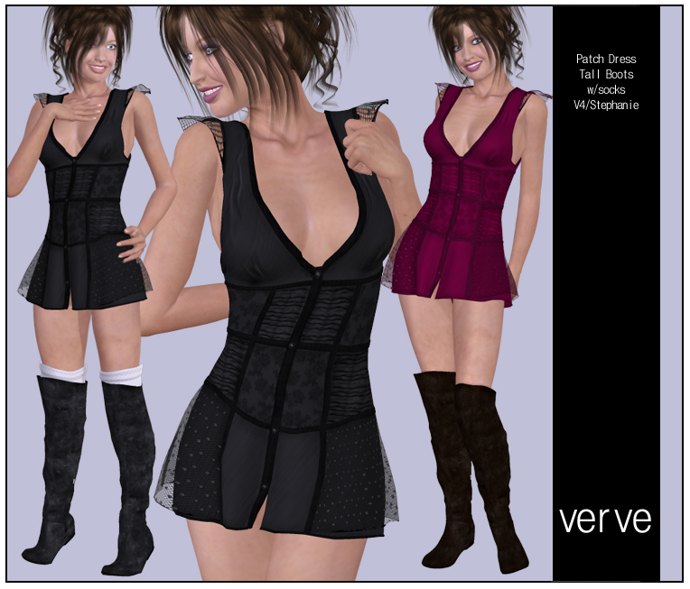 V4 Patch Dress Verve