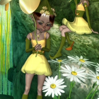 Mavka Flower Elf 3D Figure Assets 3DTubeMagic