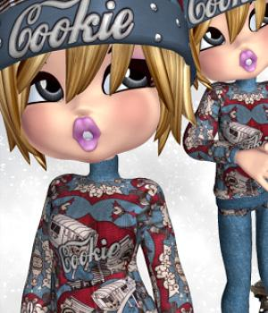 Winterfun for Cookie 3D Models 3D Figure Essentials WhopperNnoonWalker-