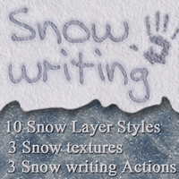 Snow Writing and Layer Styles 2D Graphics sorayashams