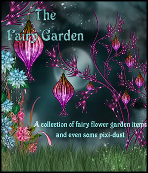 The Fairy Garden 2D Graphics 3D Models Bez