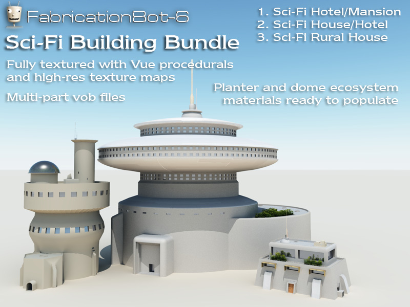 Sci-Fi Buildings bundle