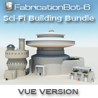 Sci-Fi Buildings bundle 3D Models FabricationBot-6